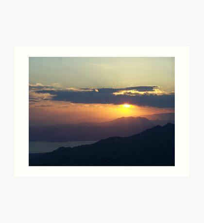 Grand Canyon sunset 10 Art Print