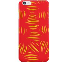 Dutel Abstract Expression Yellow Red iPhone Case/Skin