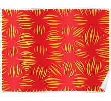Dutel Abstract Expression Yellow Red Poster