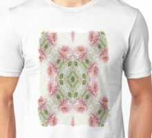 Pink Chrysanthemums Kaleidoscope Art 10 Unisex T-Shirt
