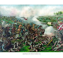 Civil War -- Battle of Five Forks by warishellstore