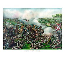 Civil War -- Battle of Five Forks Photographic Print