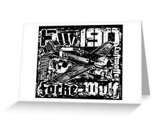 Fw 190 Greeting Card