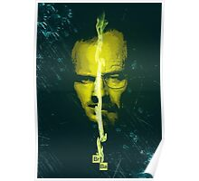 Breaking bad Heisenberg and jesse pinkman portrait  Poster