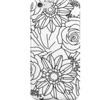FLOWERS OF SUMMER B/W COLOUR IN iPhone Case/Skin