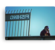 Cell phone fishing Canvas Print