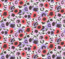 trumpet flowers pinks by inkletween