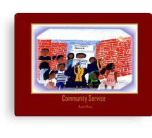 community service Canvas Print