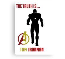Iron Man in Avengers Canvas Print
