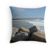 (7)-Main Beach Throw Pillow