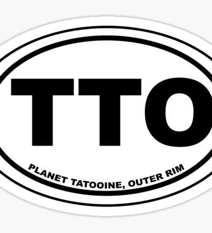 Tatooine Destination Sticker