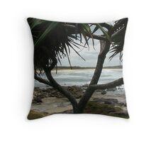 (15)-Back Beach Throw Pillow
