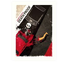 death proof quentin tarantino movie Art Print