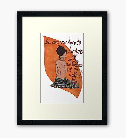 Inara bathing Framed Print