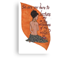Inara bathing Canvas Print