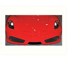 Frighteningly Ferrari Red Art Print