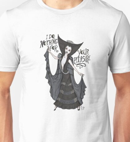 Lily in the Black Dress Unisex T-Shirt