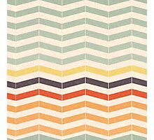Faded Chevron Pattern Photographic Print