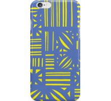 Solomons Abstract Expression Yellow Blue iPhone Case/Skin