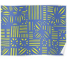 Solomons Abstract Expression Yellow Blue Poster