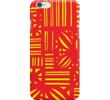 Briggerman Abstract Expression Yellow Red iPhone Case/Skin