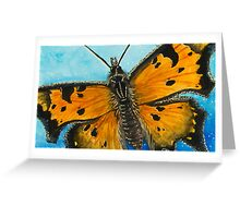 Grey Comma Butterfly Greeting Card