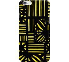 Szatkowski Abstract Expression Yellow Black iPhone Case/Skin