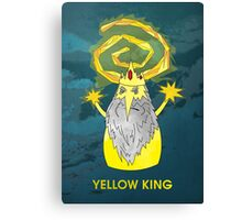 ice yellow king adventure time and true detective mashup Canvas Print