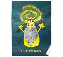 ice yellow king adventure time and true detective mashup Poster