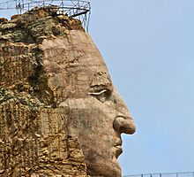 Crazy Horse Memorial - Profile View by Jonathan Bartlett