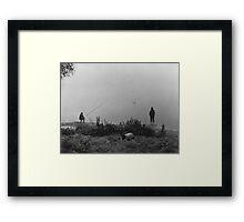 Fishing On The Foggy Rhine Framed Print
