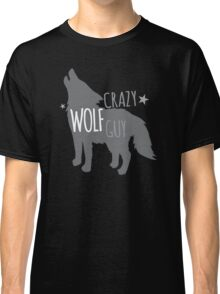 Crazy Wolf Guy Classic T-Shirt