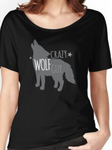 Crazy Wolf Guy Women's Relaxed Fit T-Shirt