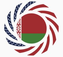 Belarusian American Multinational Patriot Flag Series by Carbon-Fibre Media