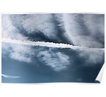 Clouds and Contrail Poster