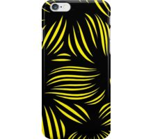 Hillie Abstract Expression Yellow Black iPhone Case/Skin