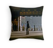 Clockwatcher Flinders Street Station 1958 Throw Pillow