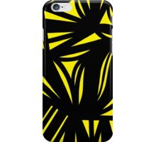Mowry Abstract Expression Yellow Black iPhone Case/Skin