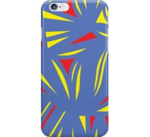 Falt Abstract Expression Yellow Red Blue iPhone Case/Skin