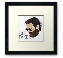 Chet Faker - Minimalistic Print Framed Print
