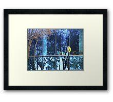 Blue Uni Reflection Framed Print