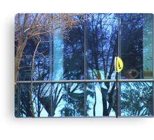 Blue Uni Reflection Canvas Print