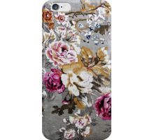 Vintage pink white fabric texture floral pattern iPhone Case/Skin