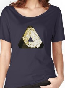 Abstract Geometry: Sand Palace (Deus Ex Gold) Women's Relaxed Fit T-Shirt