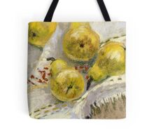 Still life with Pears on a Tablecloth Tote Bag