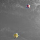 Balloons overhead by Robert Steadman