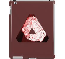 Abstract Geometry: Blood Ruby (Dark Red) iPad Case/Skin