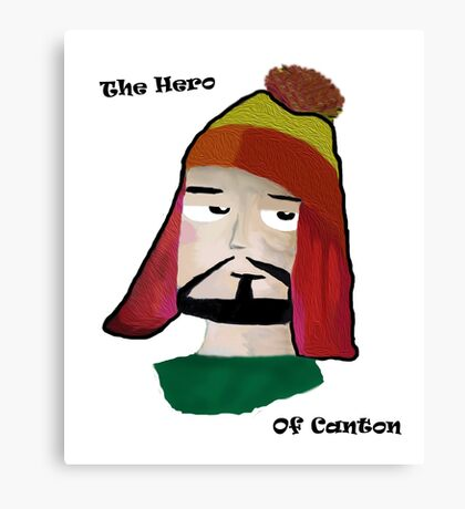 The Hero of Canton Canvas Print