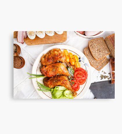 Roasted turkey Canvas Print