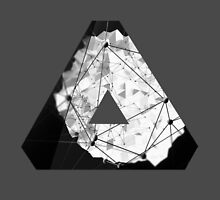 Abstract Geometry: Monochrome Crystal (Black/White/Grey) by Thomas Erlandsen